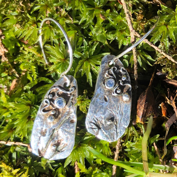 Aquamarine Wildflower Earrings
