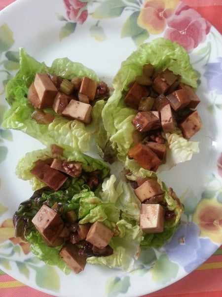 Barbecue Tofu Lettuce Wraps