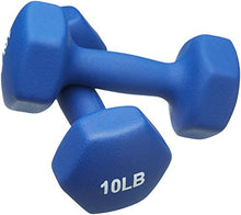 AmazonBasics Neoprene Dumbbells 10-Pound, Set of 2, Navy Blue