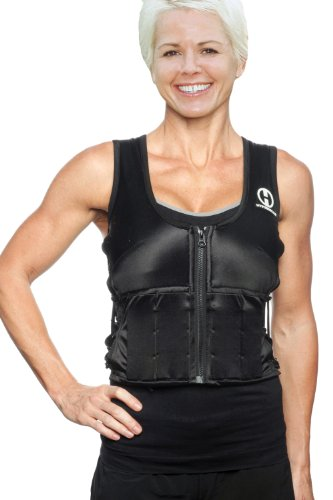 Hyperwear Hyper Vest SXY Women's 5-Pound Adjustable Weighted Vest for Fitness Workouts, Large, Black