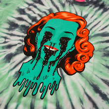Girl Crying Black Tie Dye Tee