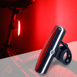 Bicycle USB Rechargeable Tail Light Bike Cycling Rear Lamp Taillight COB LED Rain Water Proof