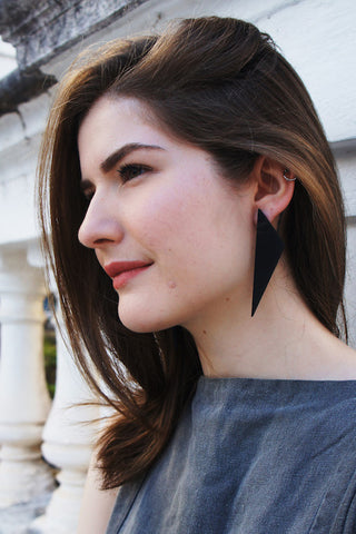 Fuksas Earring - black