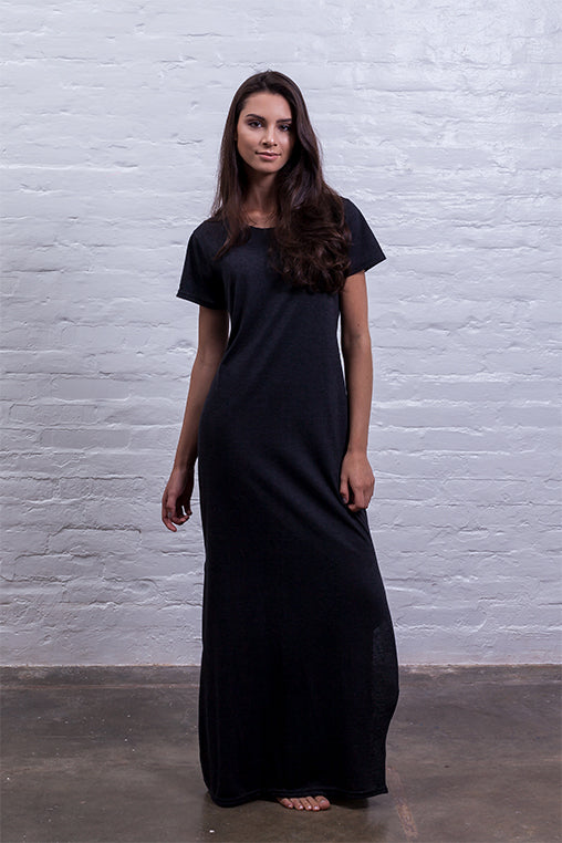 baggy dress mudha fauna black cotton comfy