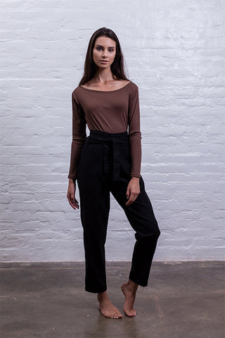 Turtleneck bodysuit black