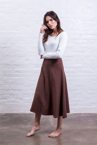 Baggy dress brown