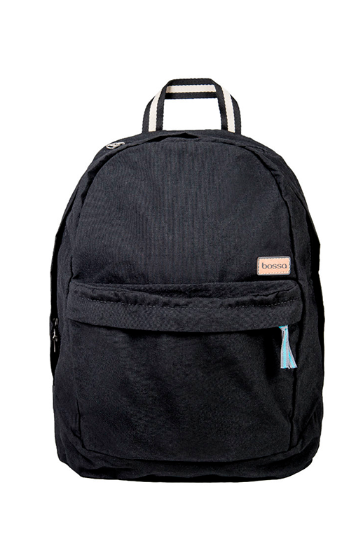 bossa backpack bossapack black sustainable pet