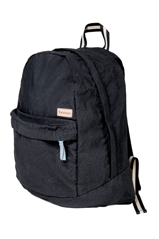 bossa backpack bossapack black sustainable pet side