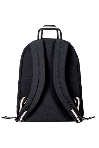 bossa backpack bossapack black sustainable pet back