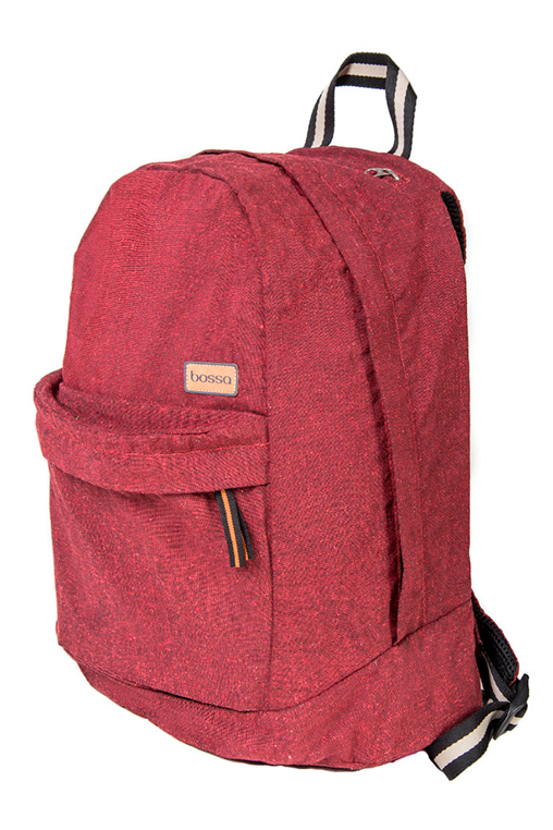 bossa backpack red sustainable pet upcyled bossapack side