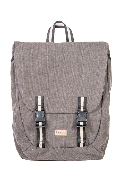 simca grey backpack bossapack recycled fabric sustainable