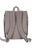 simca grey backpack bossapack recycled fabric sustainable back