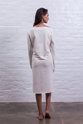 Step dress off-white