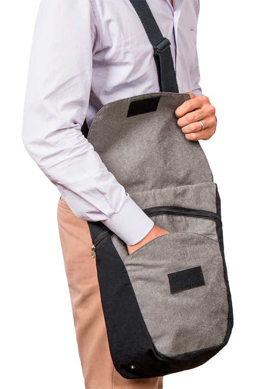 du tote bi color backpack bossapack grey black fitting
