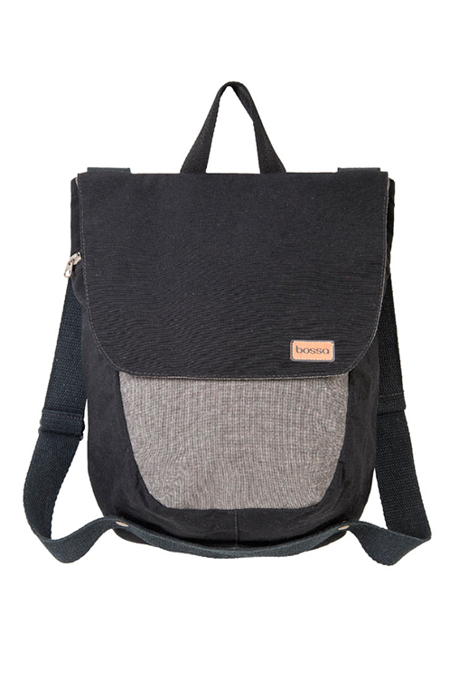du tote bi color backpack bossapack grey black