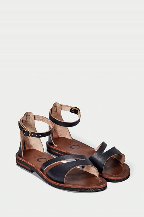 búzios black sandals caboclo leather