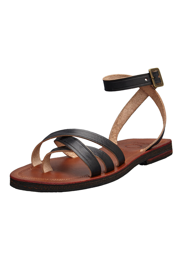 sol sandals caboclo black leather sustainable