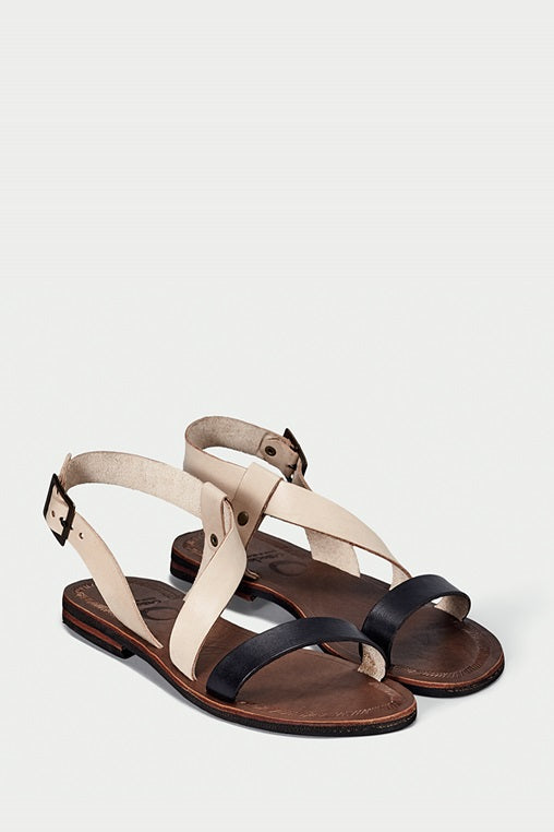 shoe 37 caboclo black and brown leather sandals sustainable