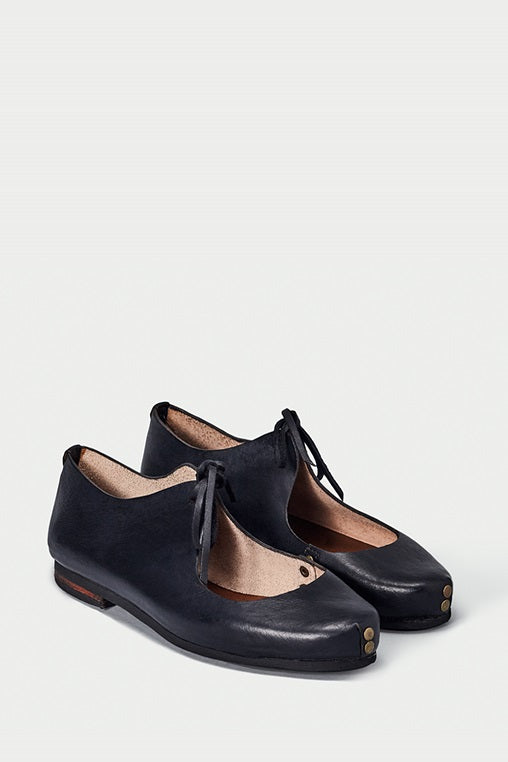 bailarina flats fauna caboclo leather sustainable black