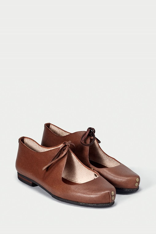 bailarina flats fauna caboclo leather sustainable brown