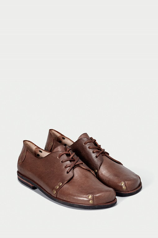 shoe 12 caboclo brown leather laces sustainable