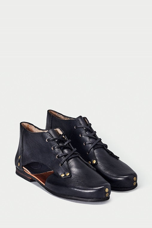 shoe 41 caboclo boots black leather sustainable
