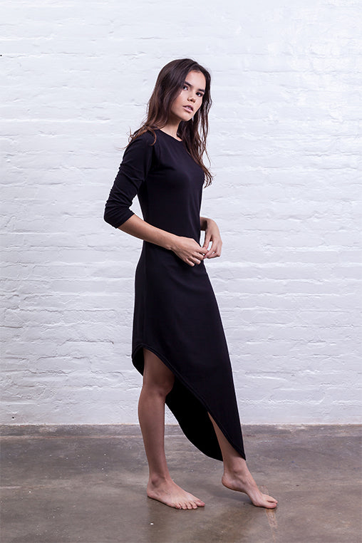 dress with tip black mudha cotton sustainable
