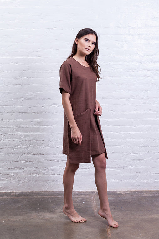 dress big pocket mudha fauna sustainable brown