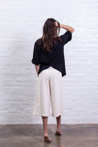 Closed culotte pants beige