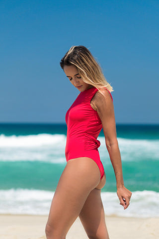 Belize Bathing Suit Red