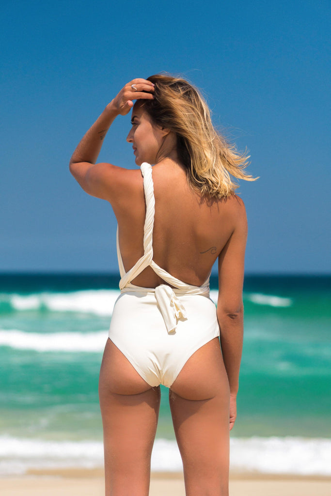 malta bathing suit off white lille beachwear biodegradable sustainable back