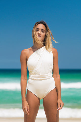 malta bathing suit off white lille beachwear biodegradable sustainable front