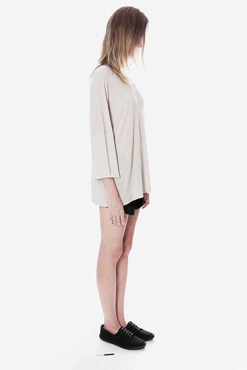 long sleeve blouse laze beige sustainable movin side
