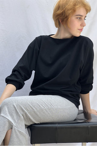 Black Recycled Blouse