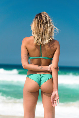 búzios bikini green lille beachwear biodegradable sustainable back