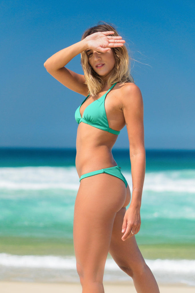 búzios bikini green lille beachwear biodegradable sustainable side