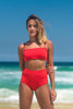 malibu bikini red lille beachwear biodegradable sustainable