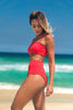 malibu bikini red lille beachwear biodegradable sustainable side