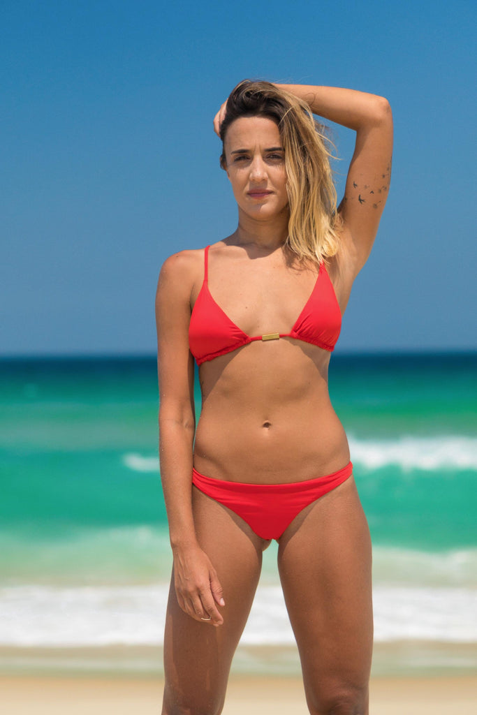 Paraty bikini red lille beachwear sustainable biodegradable