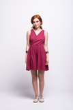 ada_jumpsuit_burgundy_short_v_neck_cut_ana_front