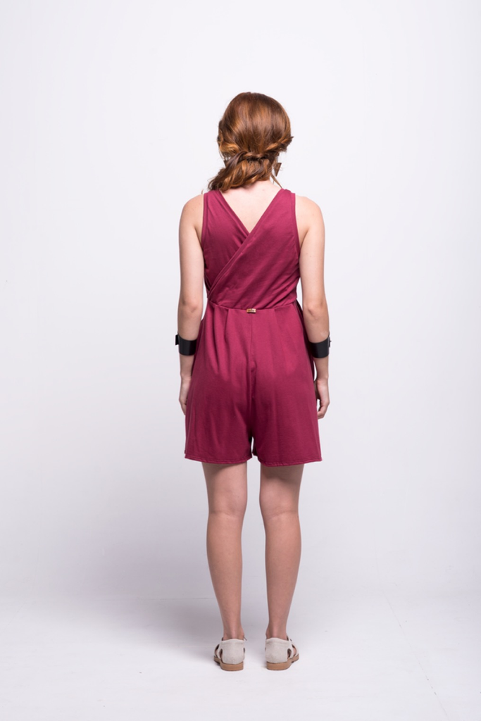 ada_jumpsuit_burgundy_short_v_neck_cut_ana_back