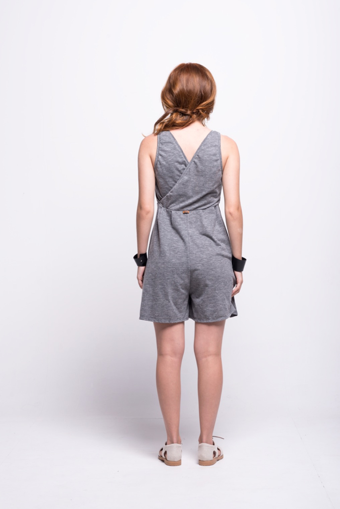 ada_jumpsuit_grey_short_v_neck_cut_ana_back
