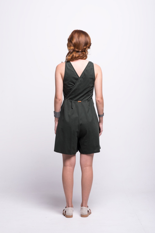 ada_jumpsuit_green_olive_short_v_neck_cut_ana_back