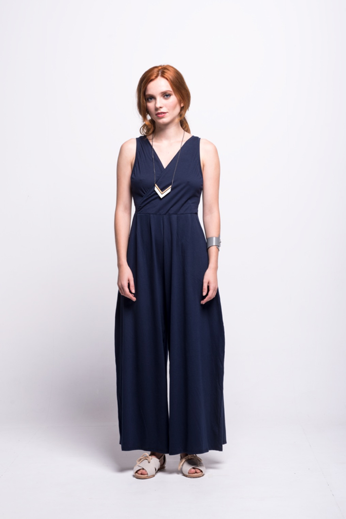 ada_jumpsuit_navy_long_ana_v_neck_front