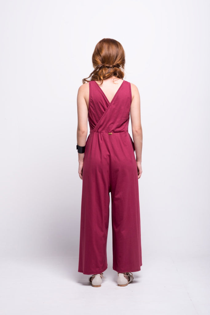 ada_jumpsuit_burgundy_long_v_neck_cut_ana_back