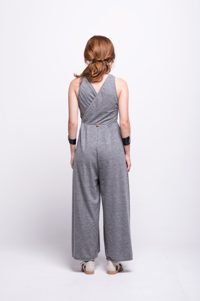 ada_jumpsuit_grey_long_v_neck_cut_ana_back