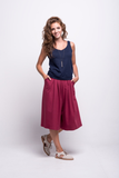 lois culotte pants burgundy ada sustainable organic cotton