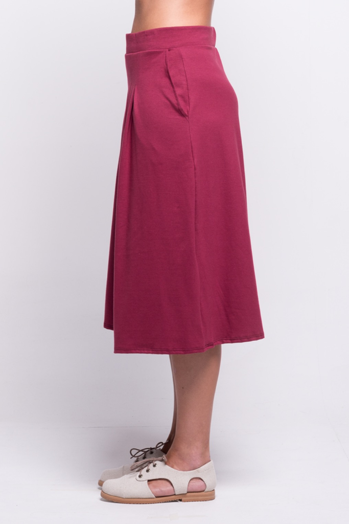 lois culotte pants burgundy ada sustainable organic cotton side