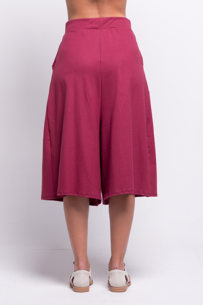 lois culotte pants burgundy ada sustainable organic cotton back