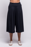 lois culotte pants black ada sustainable organic cotton front